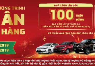 Toyota khuyến mãi lớn tháng cuối năm lên đến 100 triệu đồng