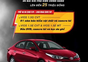 TOYOTA VIOS TƯNG BỪNG KHUYẾN MÃI CHÀO HÈ TRONG THÁNG 05 - 06/2019